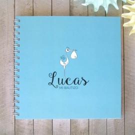 Libro Bautizo personalizado | Azul