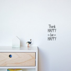 "Vinilo "" Think happy, Be Happy"" 