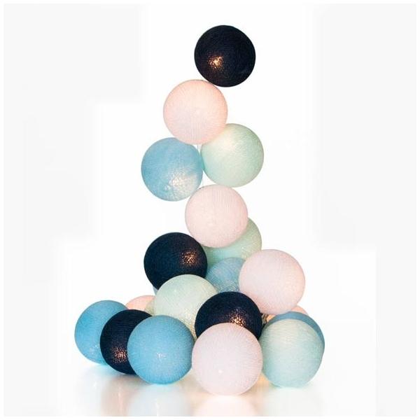 Guirnalda bolas con luz azul for Guirnalda de luces bolas
