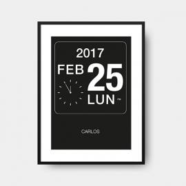 Lámina de nacimiento personalizada | Clock
