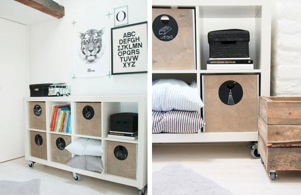 Ideas de decoraci n con el modelo expedit de ikea - Estanterias originales de pared ...