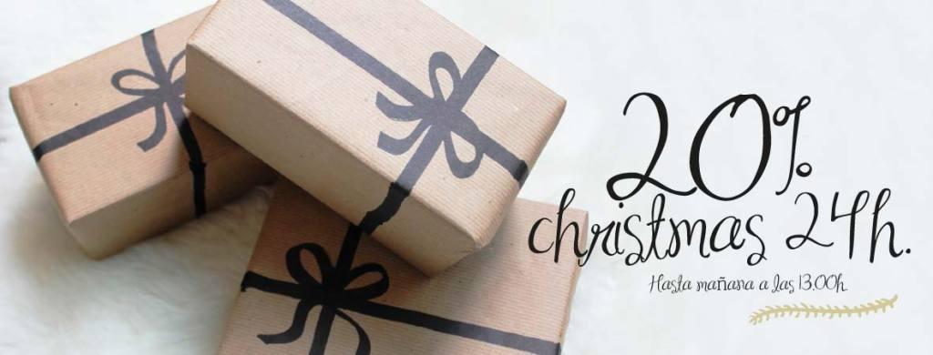 precio especial 20% descuento en tus regalos de navidad