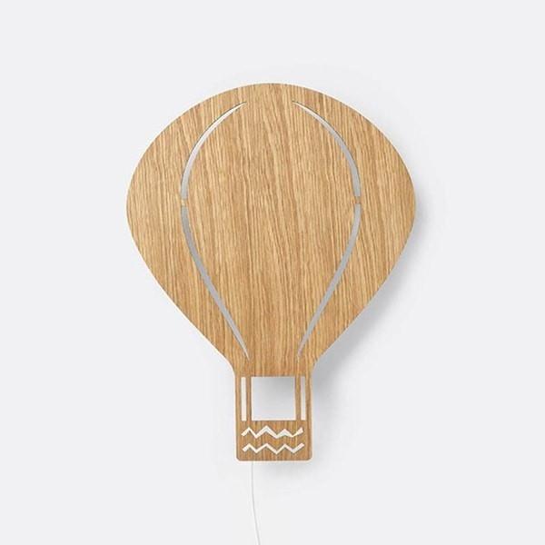 Air Balloon Lamp oak