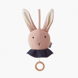 Móvil musical Rabbit | Rosa
