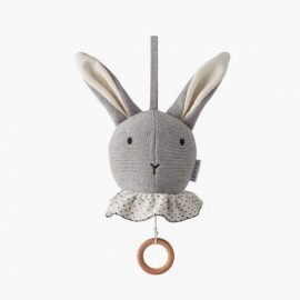 Móvil musical Rabbit | Gris