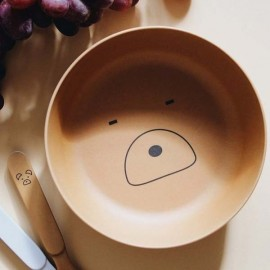 Bamboo Tableware Box Set - Mr bear mustard