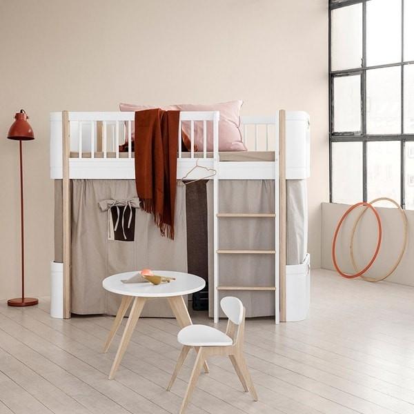 Wood Mini+ Kids Low Loft Bed