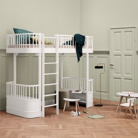 WOOD LOFT BED | White