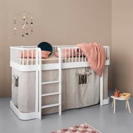Wood Low Loft Bed