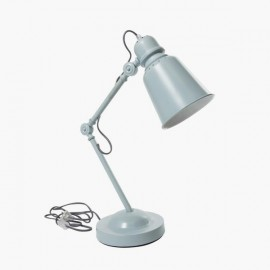 Metal desk lamp, cloud blue