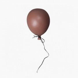 DUSTY RED CERAMIC BALLOON