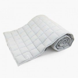 LINEN QUILTED BEDCOVER | Grey