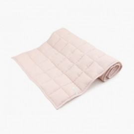 LINEN QUILTED BEDCOVER | Powder Pink