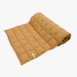 LINEN QUILTED BEDCOVER | Caramel