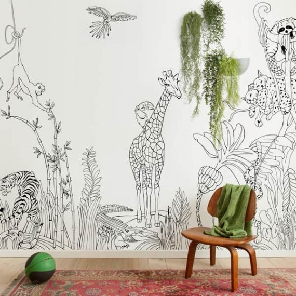 Magnetic Wallpaper | Jungle print