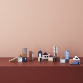 City wooden blocks