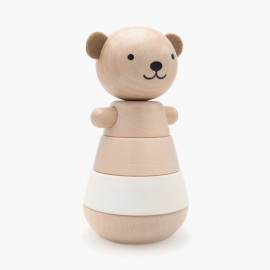 Wooden jointed bear