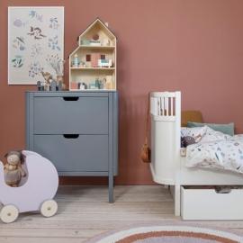 Sebra Changing 2 drawers | Grey