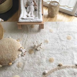 Washable rug Hippy Dots Natural | Colours