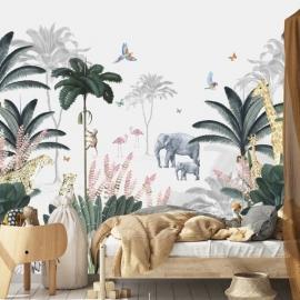 Leopard and Friends Jungle Wallpaper Mural