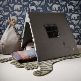 Tent - Beetle Embroidery - Dark Olive