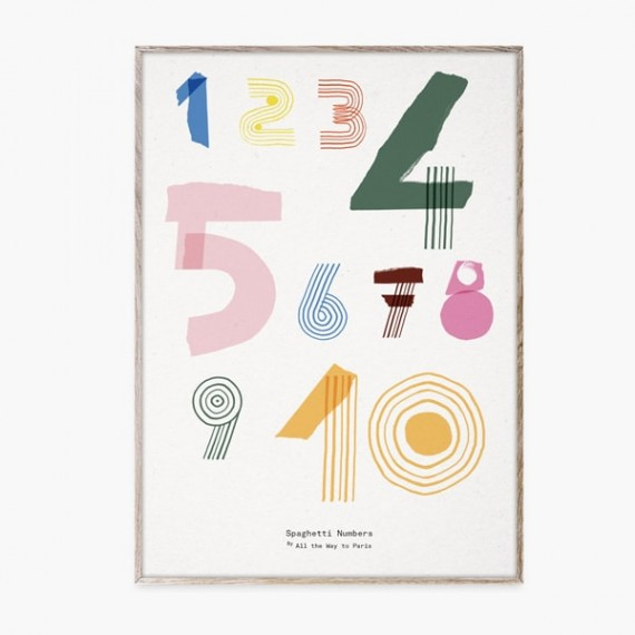 Spaghetti Numbers Poster