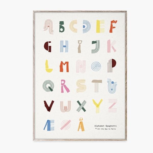 Alphabet Spaghetti Poster