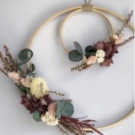 Sara Floral Hoops