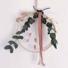 Rose Floral Hoops | Medium