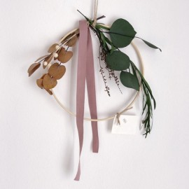 Malva Floral Hoops | Medium