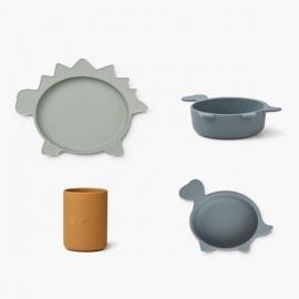 Cyrus Tableware 3 pack - Dino blue