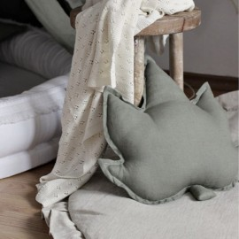 Linen Leaf Pillow