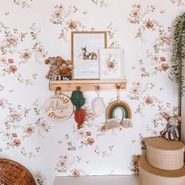 Papel Pintado Floral Vintage