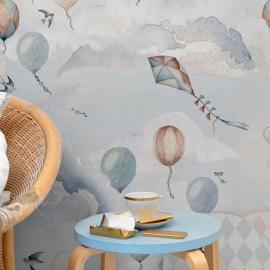 Balloons Fairytale Wallpaper