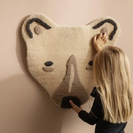 Tufted Polar Bear Head - Off-white