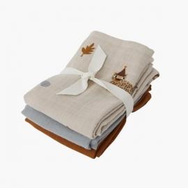 Muslin Cloth, 3 Pack | Leopard