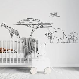 Safari Walking Mural