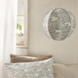 Stream Embroidered Textile Lampshade