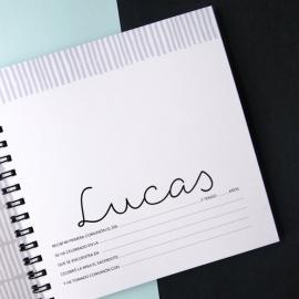 Libro de comunión y album de firmas personalizado para la comunión.