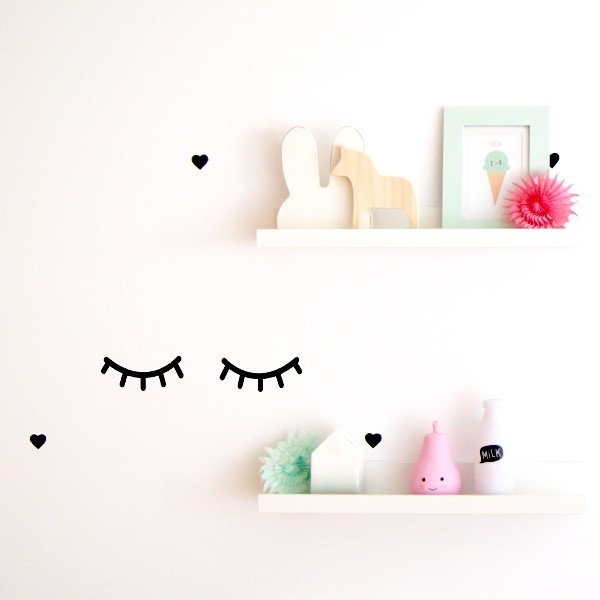 Vinilo pesta as sweet eyes para decorar paredes ni os for Vinilos para pared de ninos