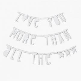 Guirnalda de letras Blanco