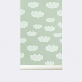 Papel Pintado Cloud | Menta
