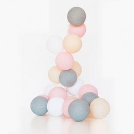 Guirnalda Bolas con luz | Rosa C