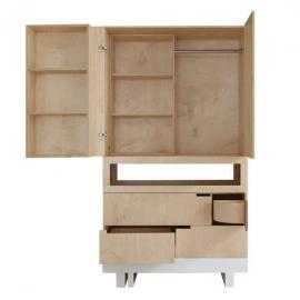 armario roof kutikai escritorio infantil blanco