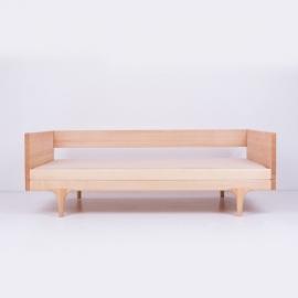 Cama Casita madera natural para habitaciones niños y bebés