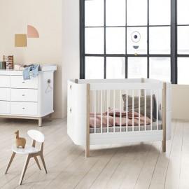 Cuna Wood Mini + Madera - Oliver Furniture. Cuna evolutiva moderna