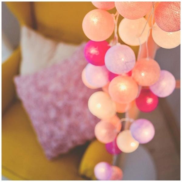 Guirnalda bolas con luz colores pasteles iluminaci n ni os for Guirnalda de luces bolas