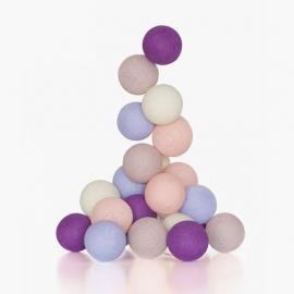 Guirnalda Bolas con luz | Pastel