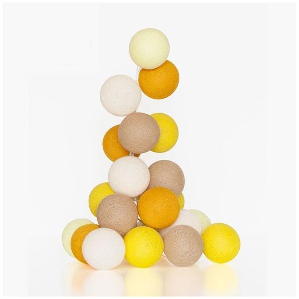 Guirnalda bolas con luz mostaza iluminaci n ni os for Guirnalda de luces bolas