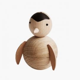 Pingüino de madera